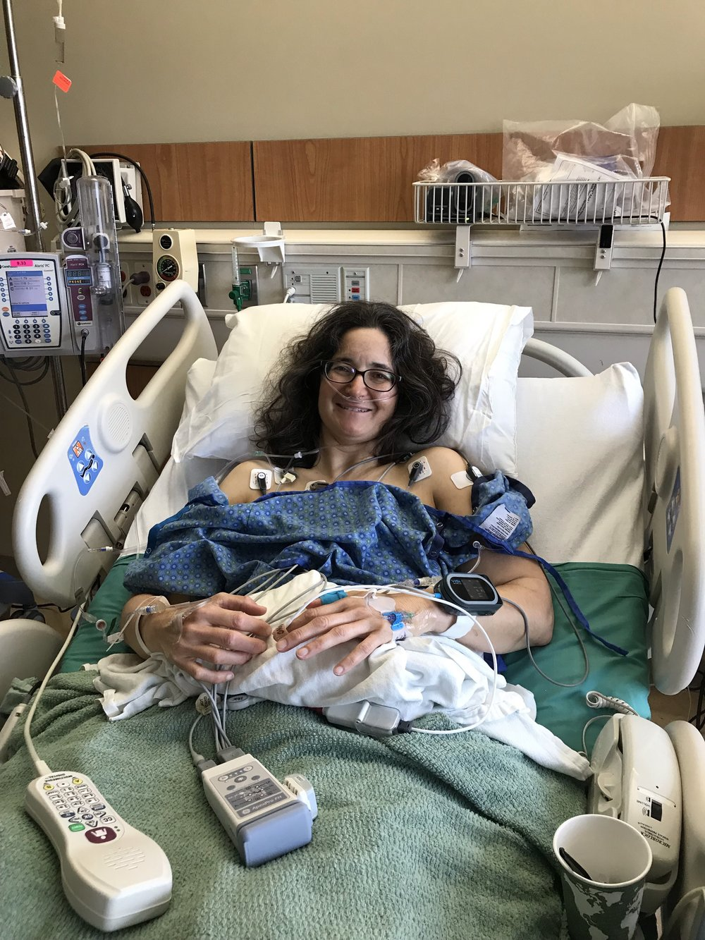 Laura pictured here after surgery.