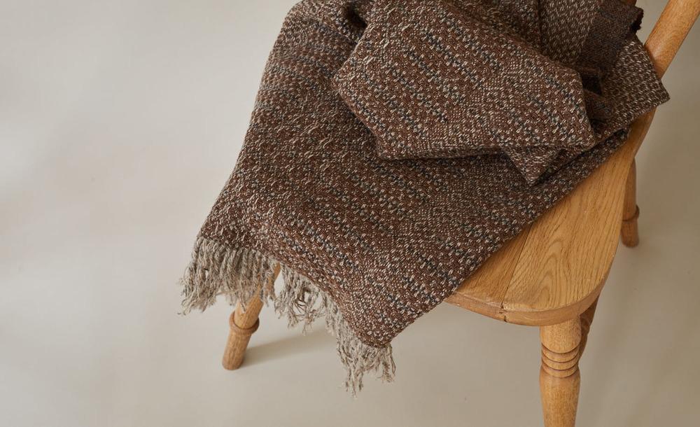 Nordic Lumber Moorit Knee Blanket