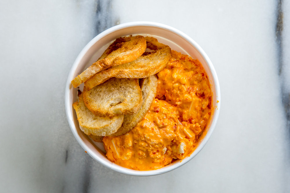 Pimento Cheese+Crunchies - $2.95