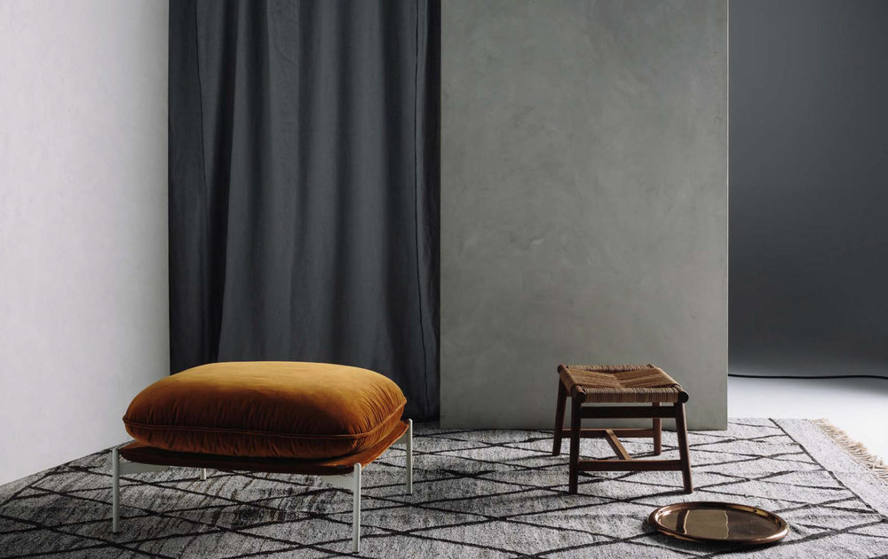 Artisan Flooring, Turkey Rewoven Kilim styled by Home magazine is understated ethnic.
