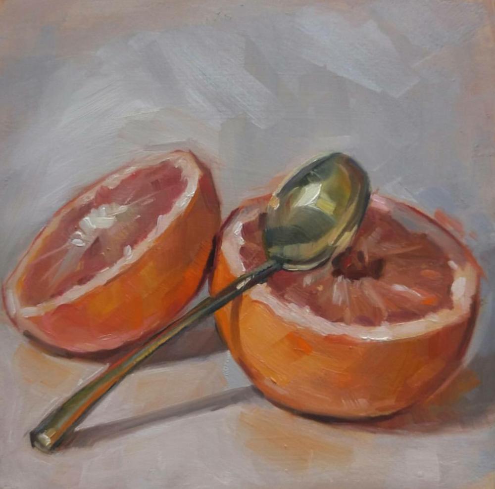 Grapefruit, 6x6