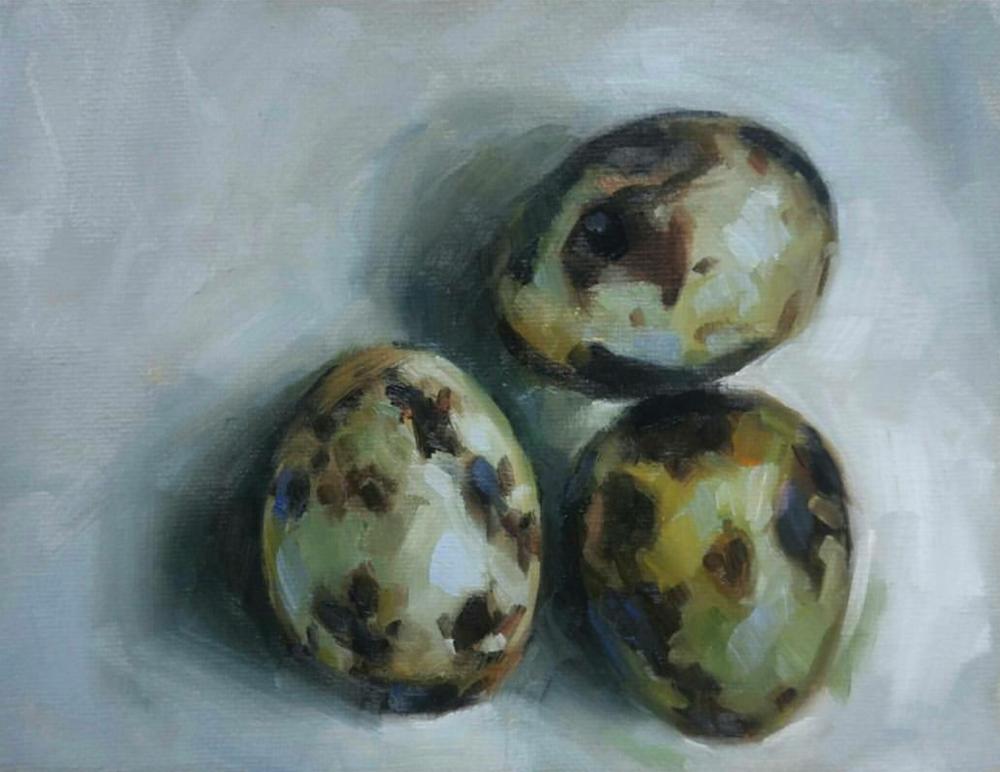 Quail Eggs, 6x8