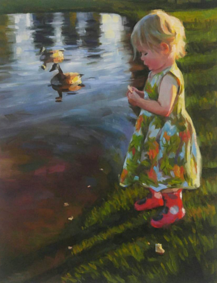 Bread by the Pond, 11x14