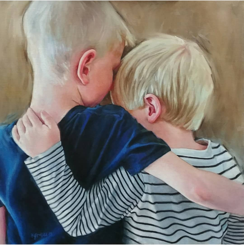 Brothers, 24x24