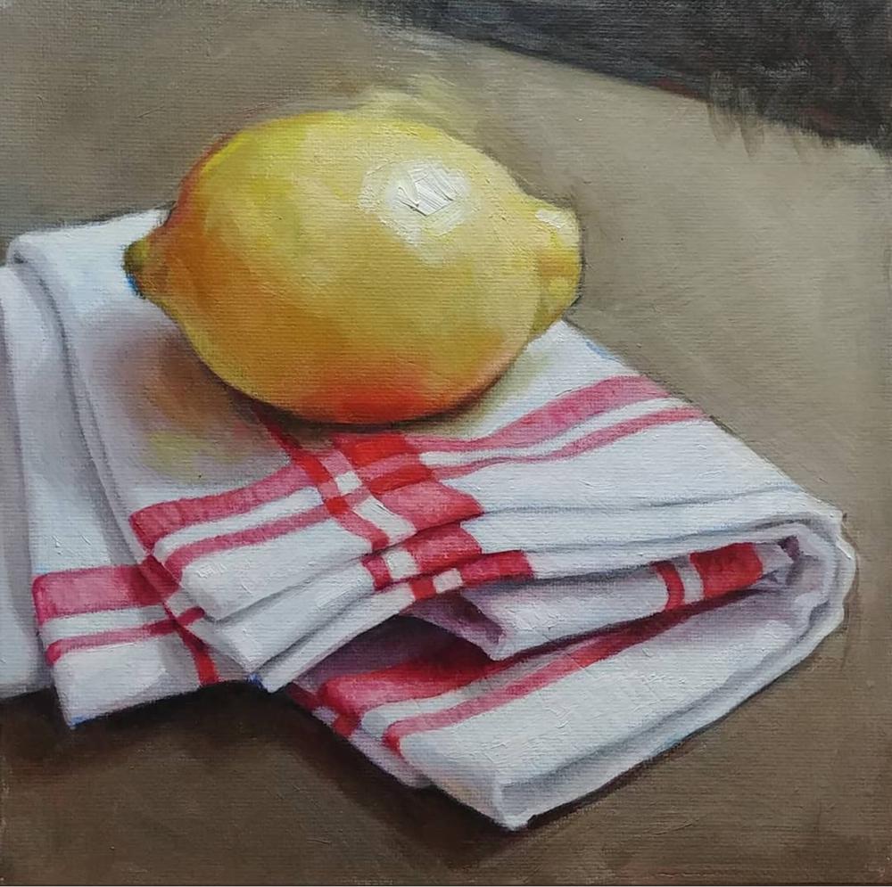 Lemon and Cloth, 8x8