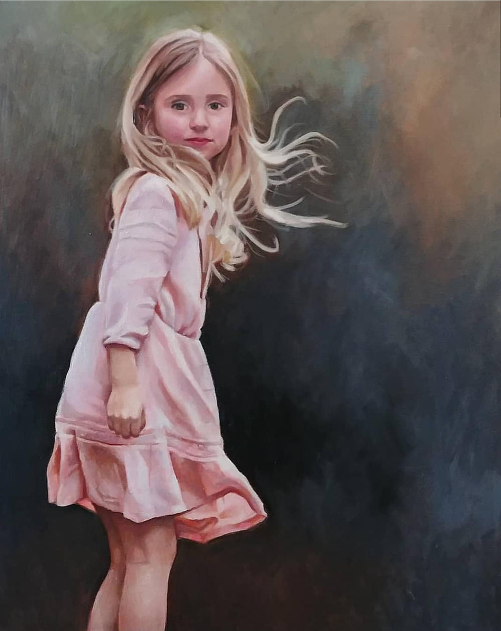 Pink Dress, 16x20