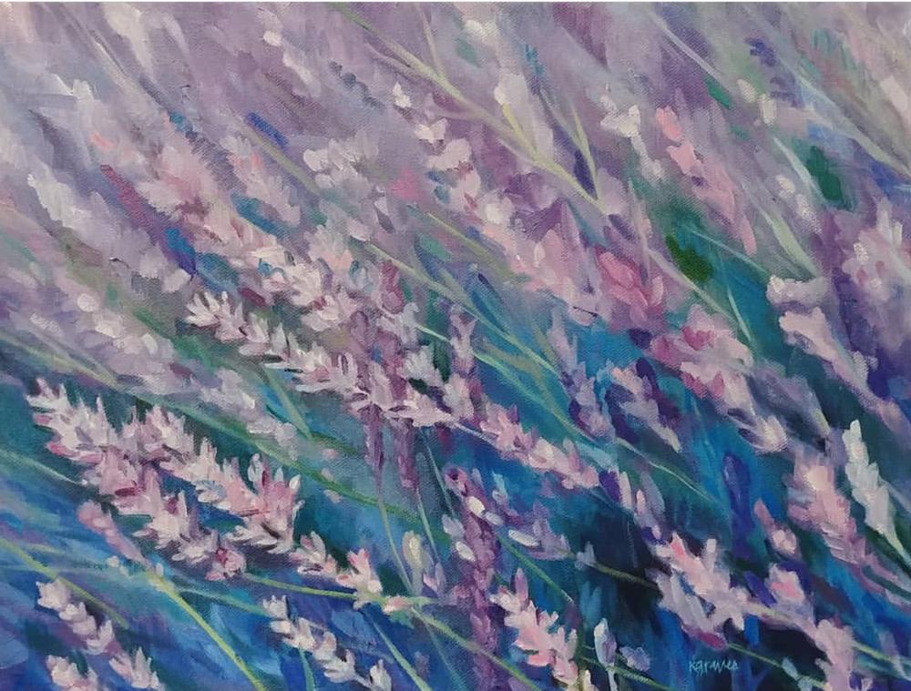 Lavender Field, 12x16