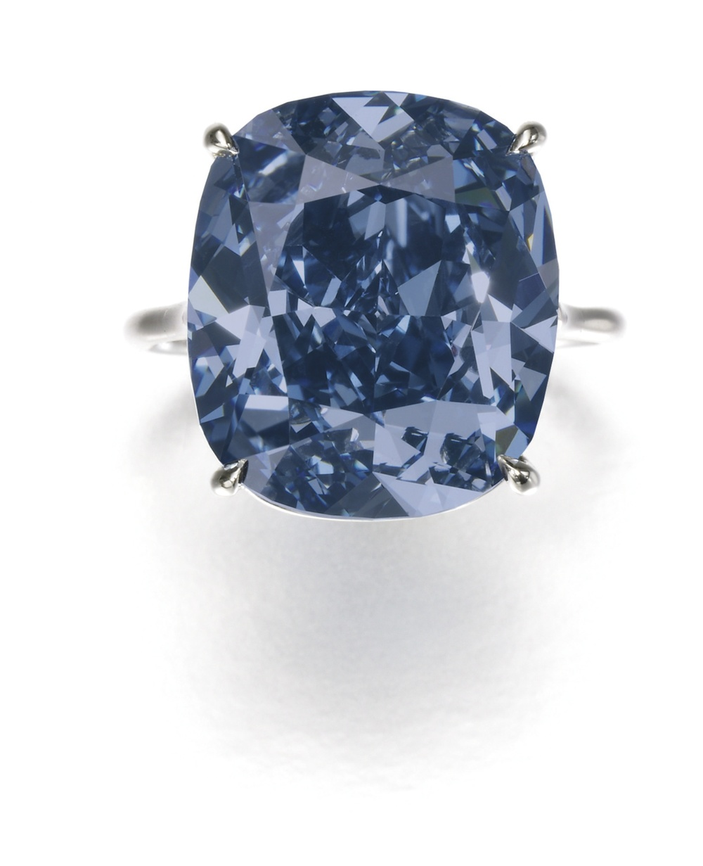The Blue Moon Diamond - Image courtesy of Sotheby's