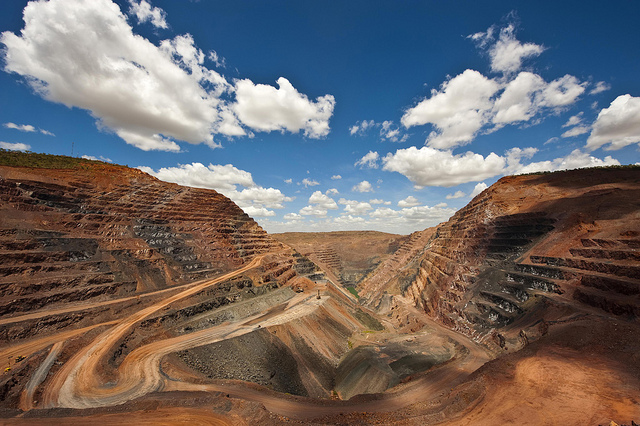 The Argyle Diamond Mine in Western Australia