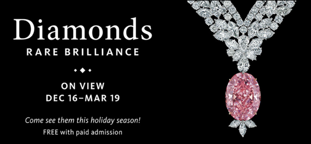 The Juliet Pink on display at Diamonds: Rare Brilliance at the Natural History Museum of Los Angeles