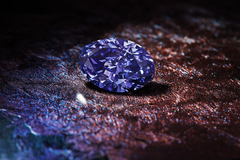 The Argyle Violet - 2.83 carat oval shape, with color grading of Fancy Deep Grayish Bluish Violet.