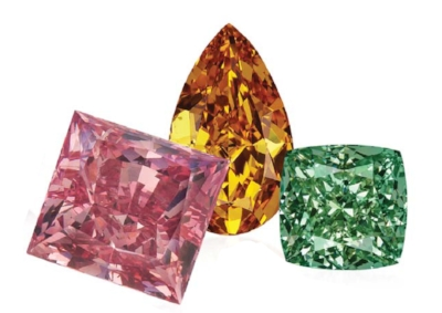 Rare Multi-Color Diamonds part of the L.J. West Diamonds collection.