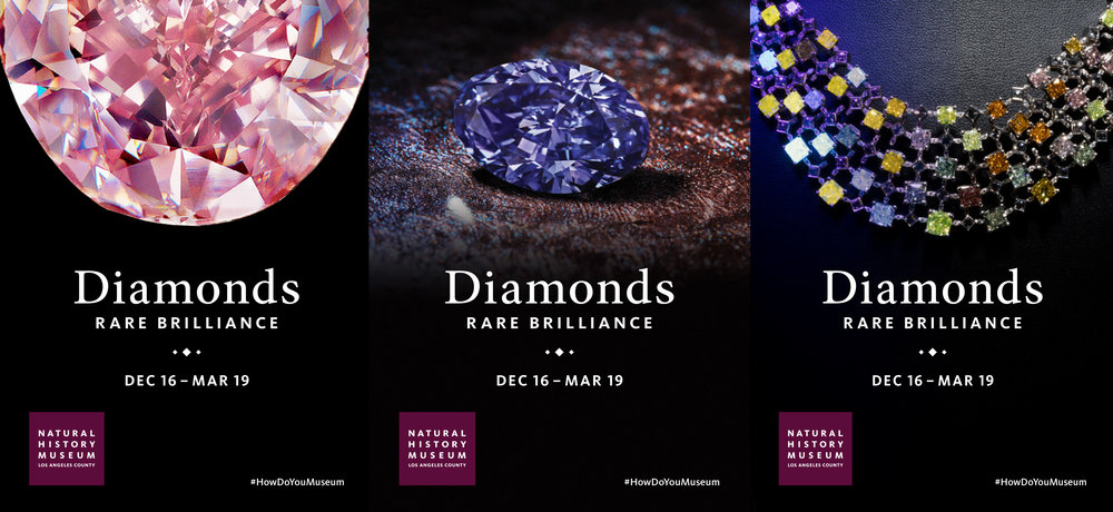Diamonds Rare Brilliance - The Juliet Pink Diamond, Argyle Violet, Victorian Orchid Vivid Purple and Multi-Color Diamonds were on display at the Natural History Museum of Los Angeles County.
