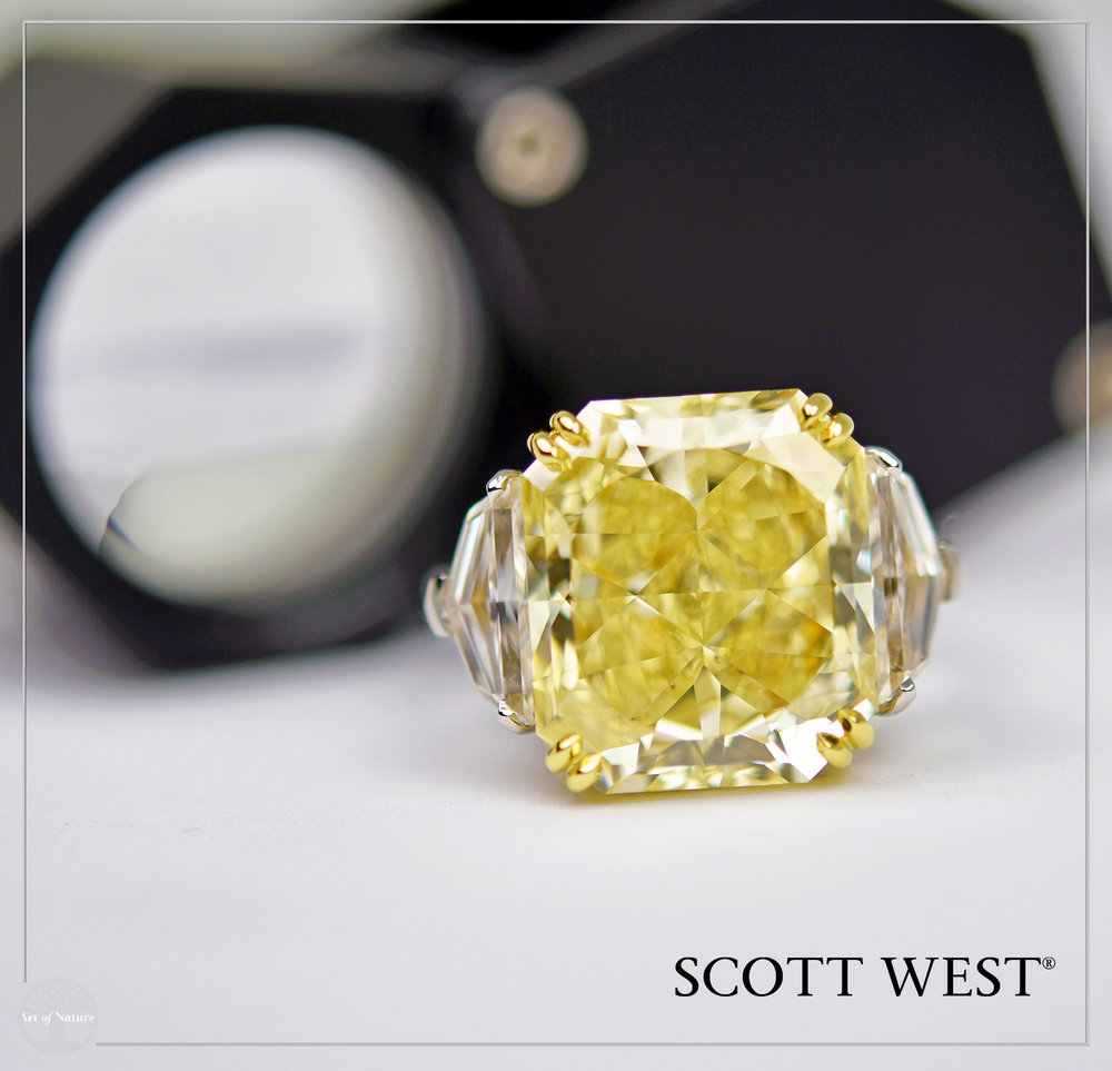 Scott West - Fancy Intense Yellow Ring   Fancy Intense Yellow,11.71 ct Fancy Intense yellow VVS2   Inquire