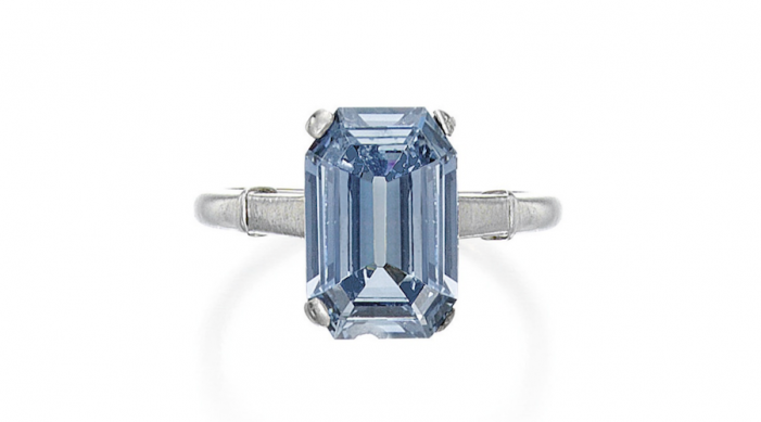 3.47 Carat Intense Blue Diamond - image courtesy of Sotheby's