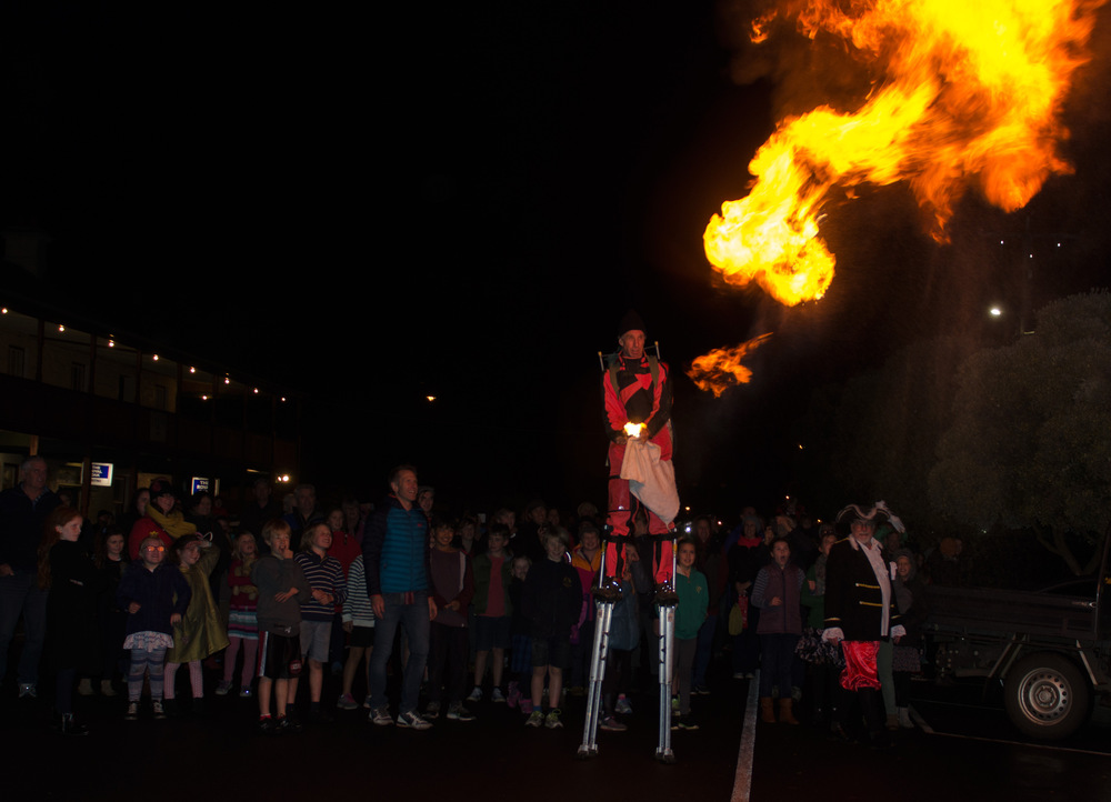 Tim Tim performing at the 2016 Winter Solstice Festival in Port Fairy or should that be Port Fiery?