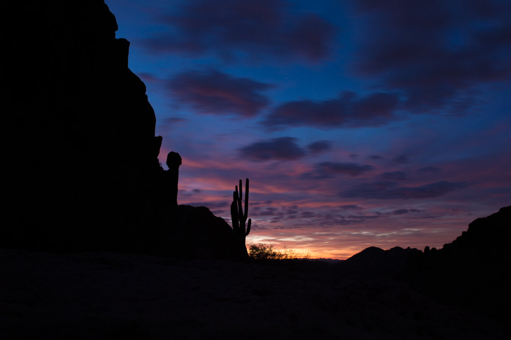 Sunrise on the Peralta Trail, AZ