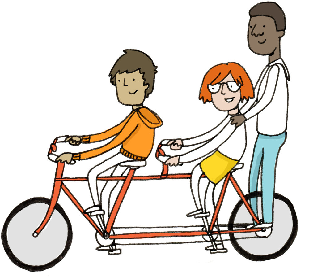 illustration drawing brussels illustrator bicycle kids