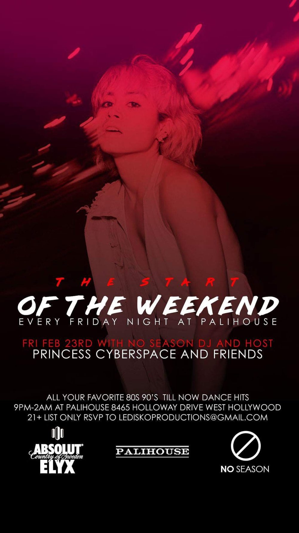 PRINCESS CYBERSPACE RESIDENCY AT PALIHOUSE WEST HOLLYWOOD
