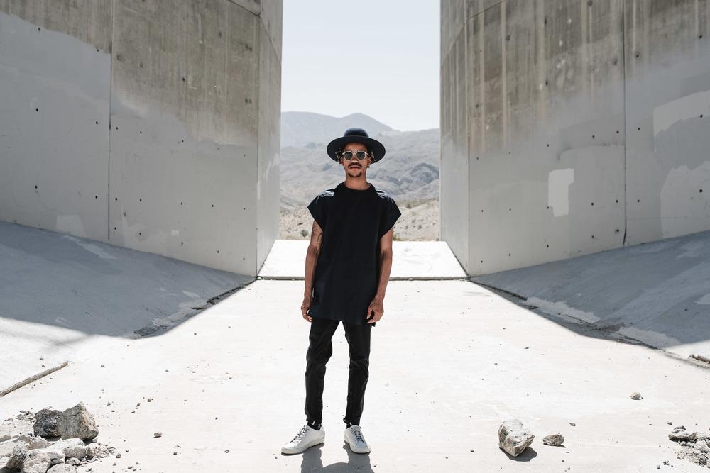 Project A shirt and pants; Etudes Studio hat; TCG shoes