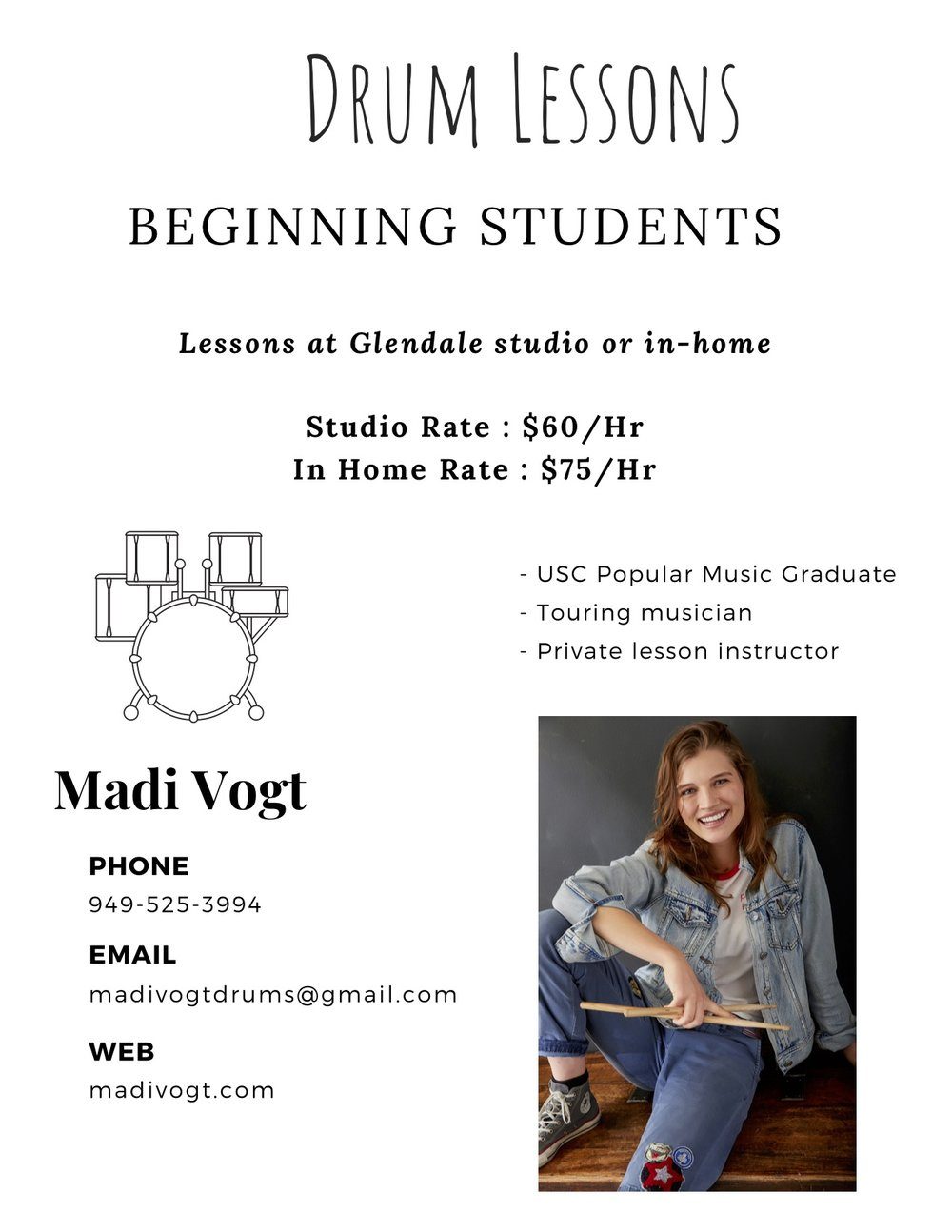 Drum Lessons E-Flyer