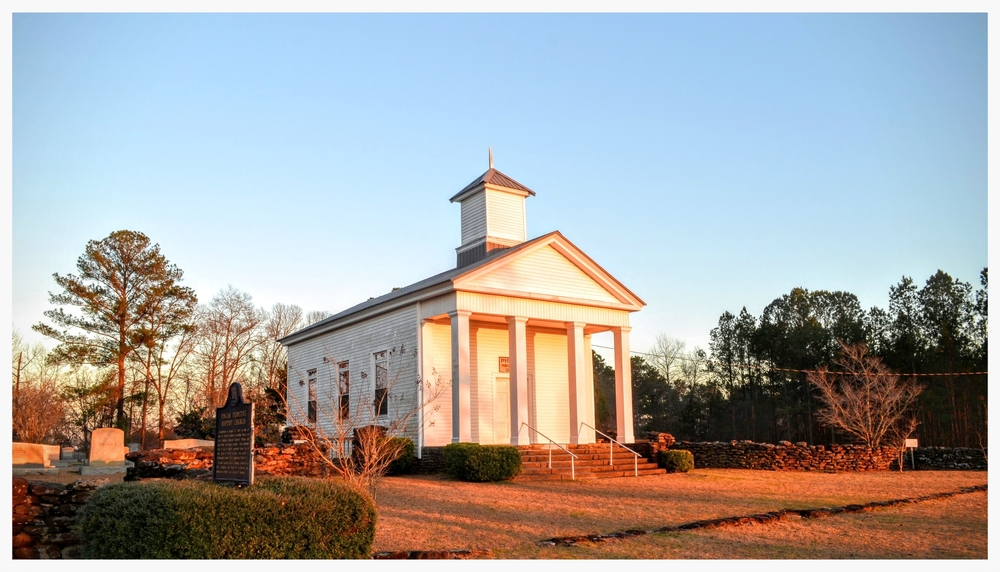 Wide view, Pisgah Primitive Baptist Church, Montgomery County, Alabama