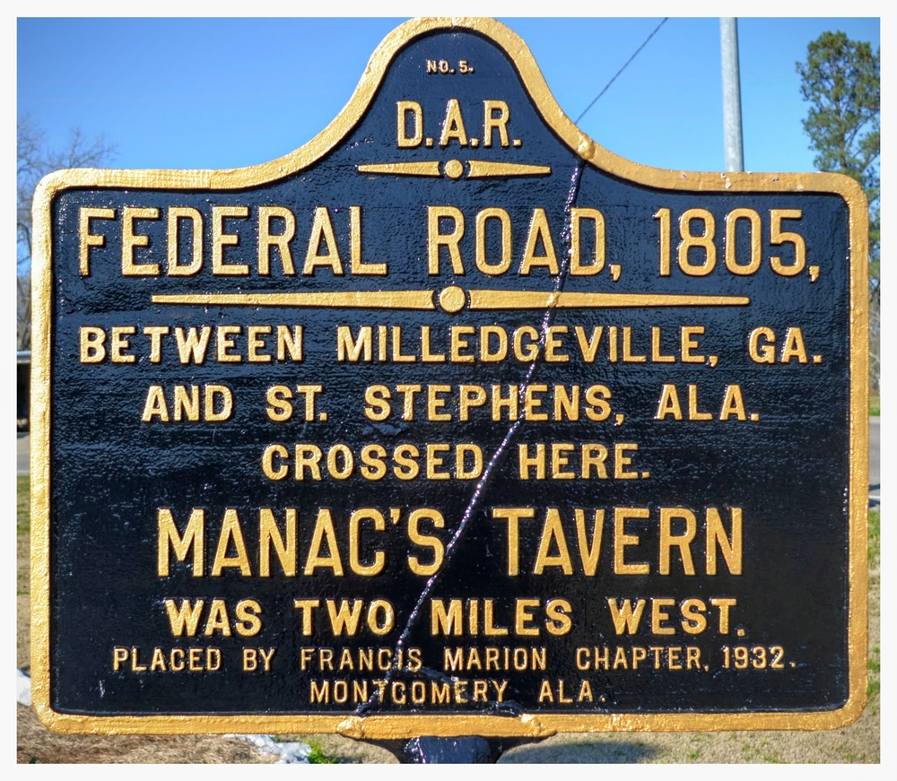D.A.R. Federal Road historical marker, Hope Hull, Montgomery County, Alabama