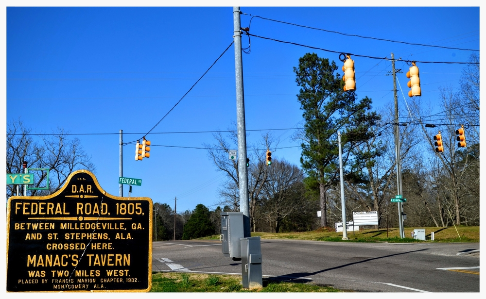 Intersection of Federal Road and U.S. 31 in Hope Hull, Montgomery County, Alabama