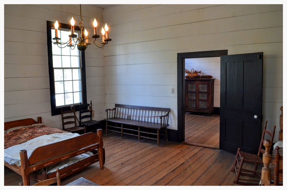 Front bedroom in Lucas Tavern, Old Alabama Town, Montgomery, Alabama