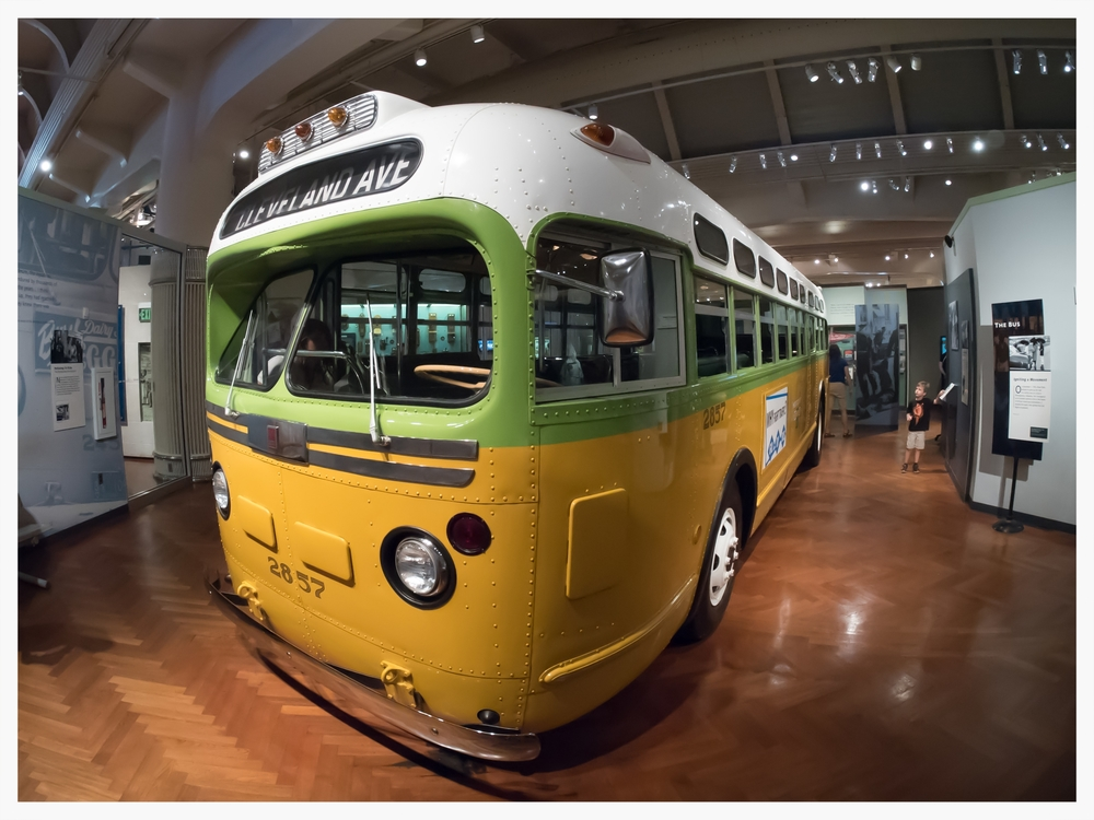 Montgomery City Lines bus #2857, ridden by Rosa Parks the night she was arrested, The Henry Ford, Dearborn, Michigan (Photo courtesy of Alvintrusty - 2015)