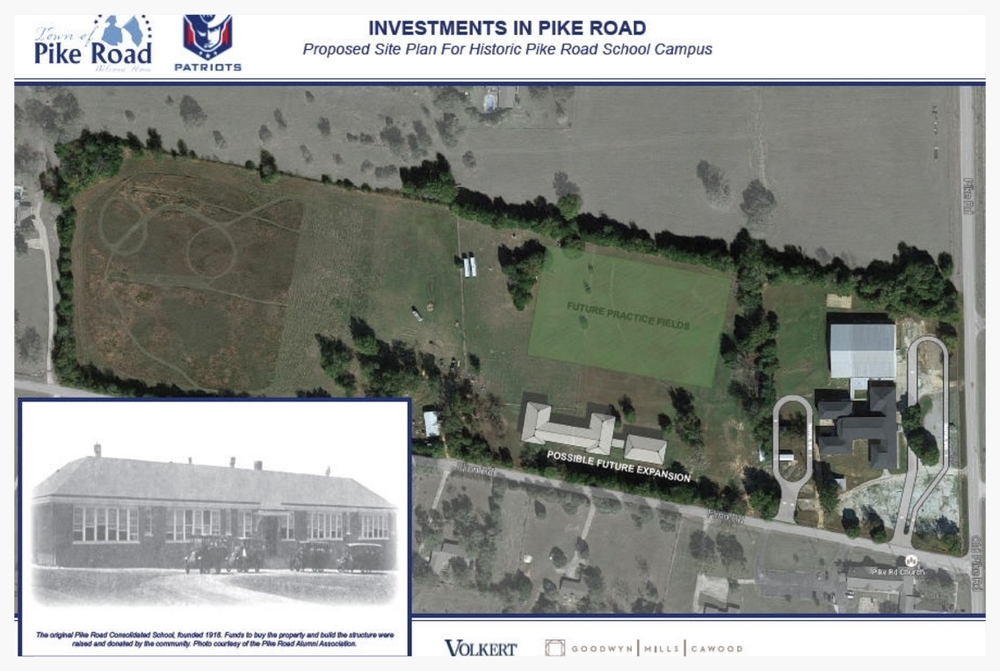 Historic Pike Road School rendering (image courtesy of the Town of Pike Road)