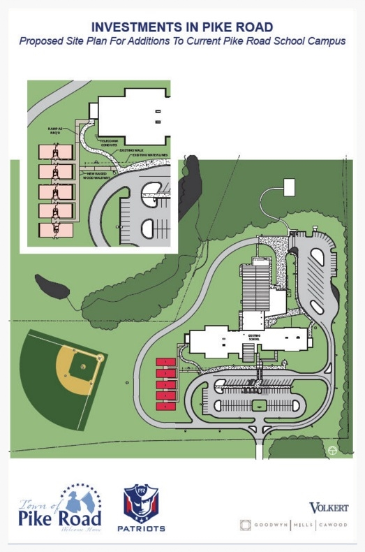 New Pike Road School site rendering (image courtesy of the Town of Pike Road)