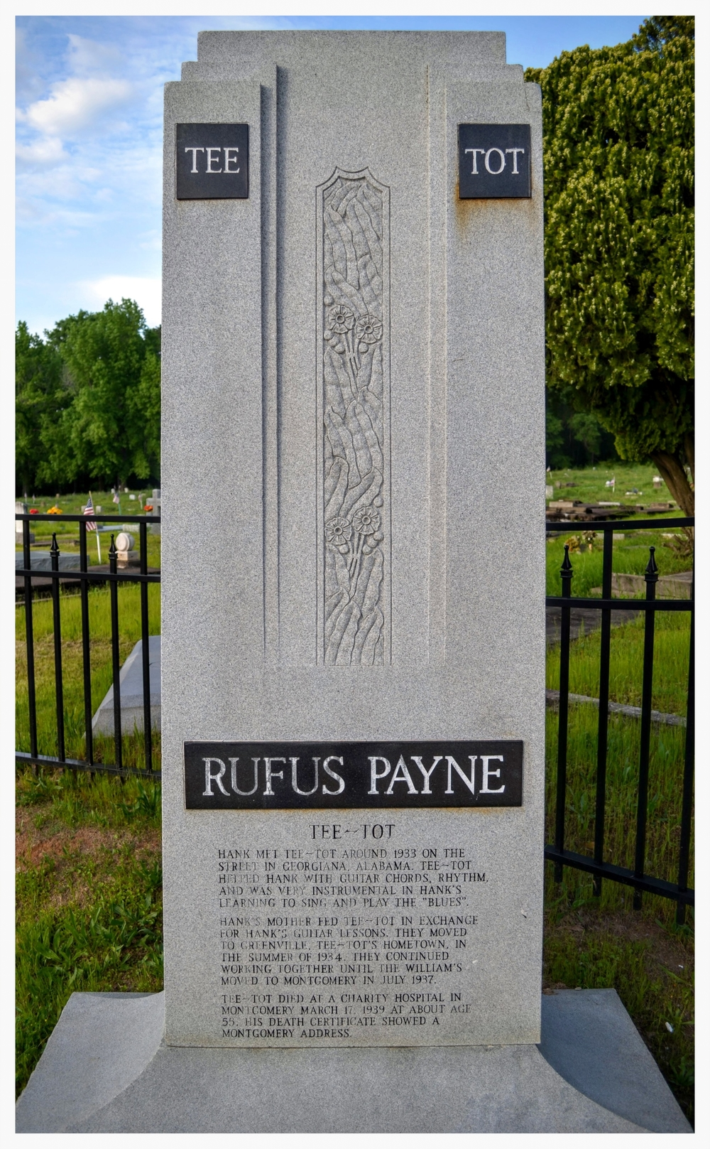 """Tee Tot"" Rufus Payne memorial, Montgomery, Montgomery County, Alabama"