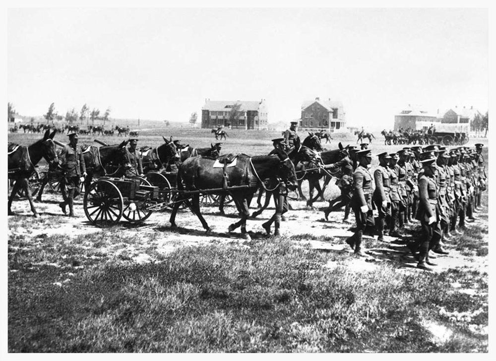 U.S. Army Remount Service site in Wyoming in 1927 (photo courtesy of Wyoming State Archives)