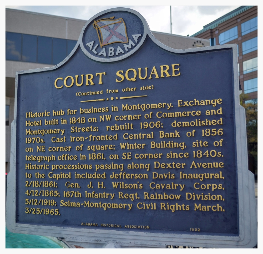 Court Square historical marker, Montgomery, Montgomery County, Alabama