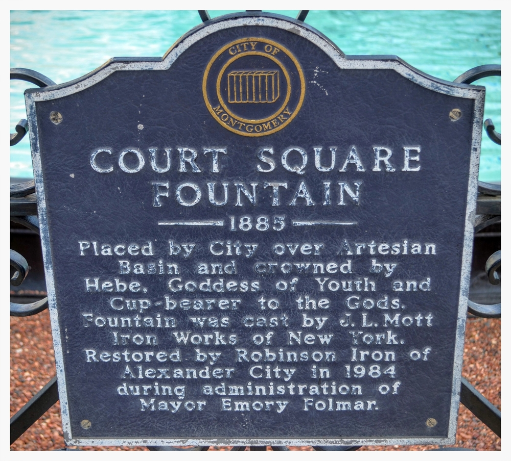 Court Square Fountain plaque, Montgomery, Montgomery County, Alabama