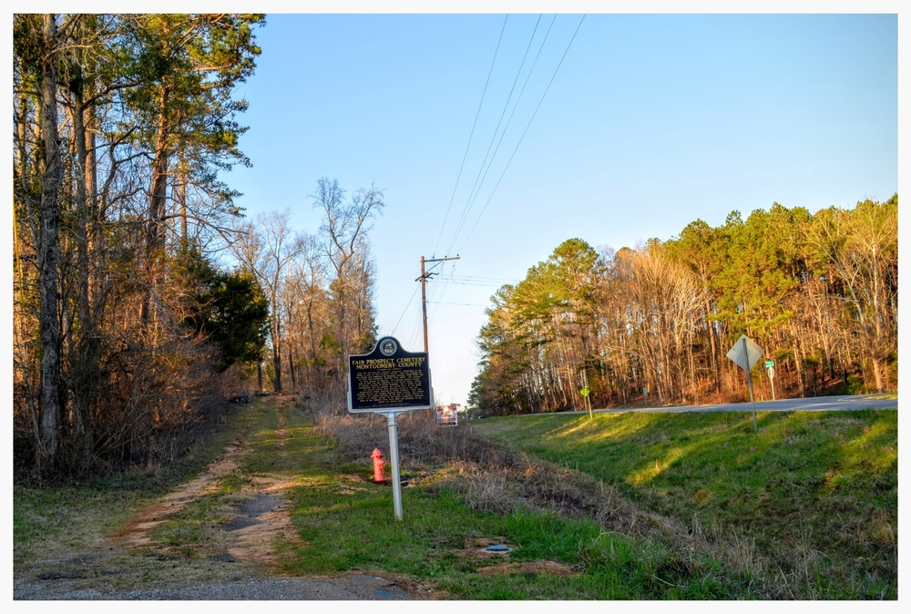 Entrance to Fair Prospect Cemetery, Montgomery County, Alabama