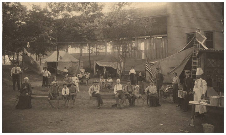 The Salvation Army's Fresh Air Encampment at Pickett Springs in 1908 (photo courtesy of the Alabama Department of Archives & History)