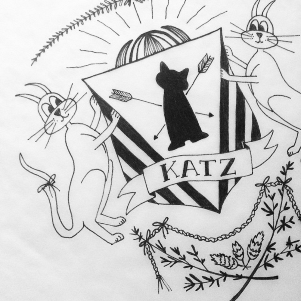 Katz family crest I designed for my parents' anniversary.