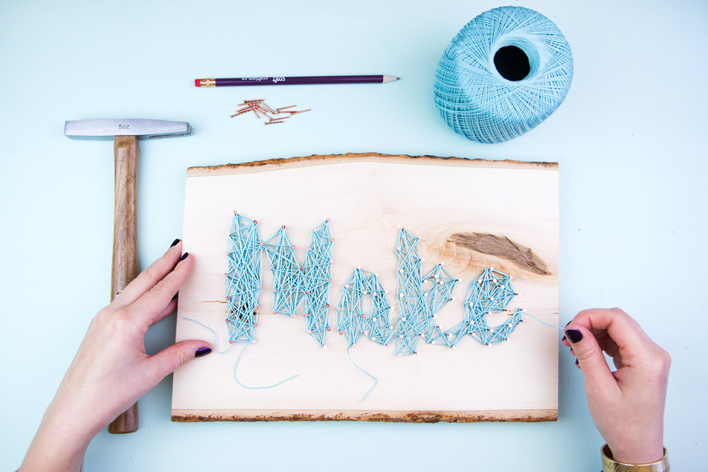 MAKE A STRING ART DECORATION  sc 1 st  CraftJam & String Art Decoration u2014 CraftJam