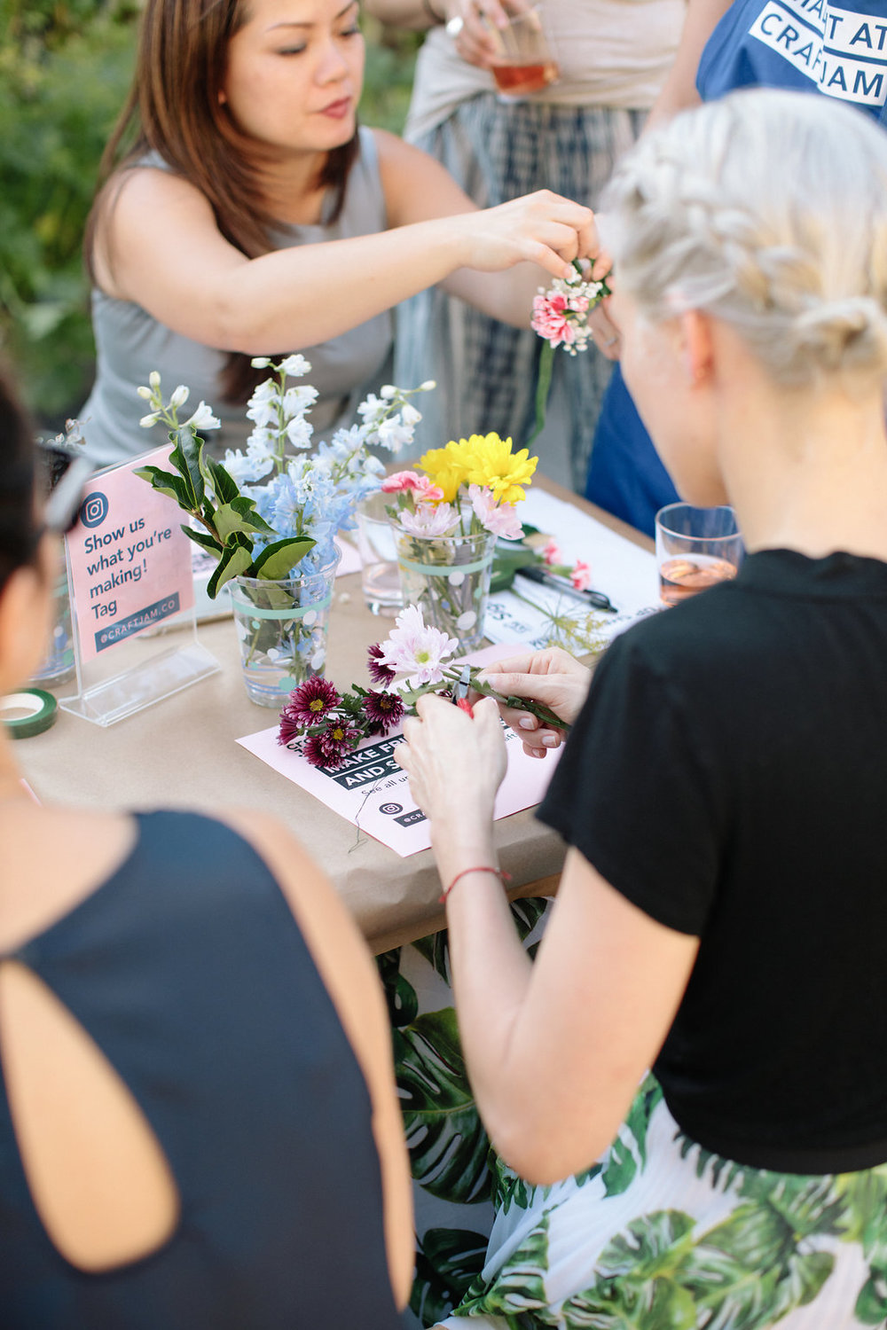 Flower Crown Workshop at  GROW  rooftop