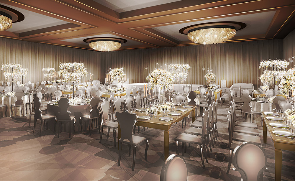 Four Seasons Wedding Reception - Design Concept Rendering