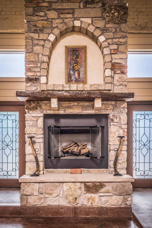 Wisteria Courtyard Fireplace