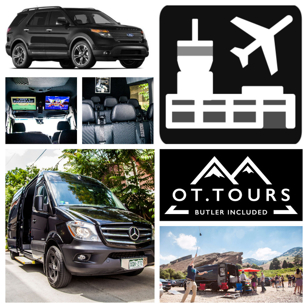 Luxury Transport :Downtown To DIA $100Pickup/Dropoff:Level 5, Limo Island 2. Look for the Tophat!  -