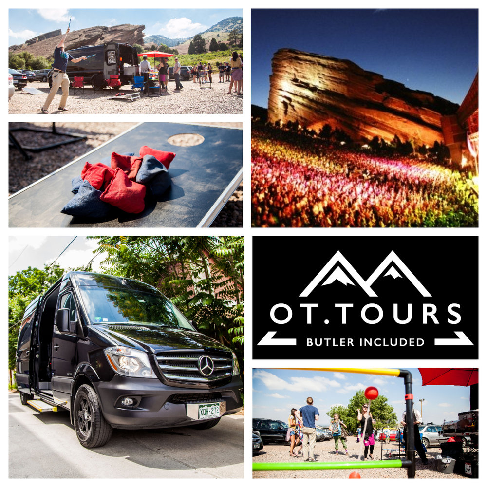 Red Rocks Concert:$60pp from Denver Metro. Max 17 guests, Minimum 6 required. Food & Alcohol included -