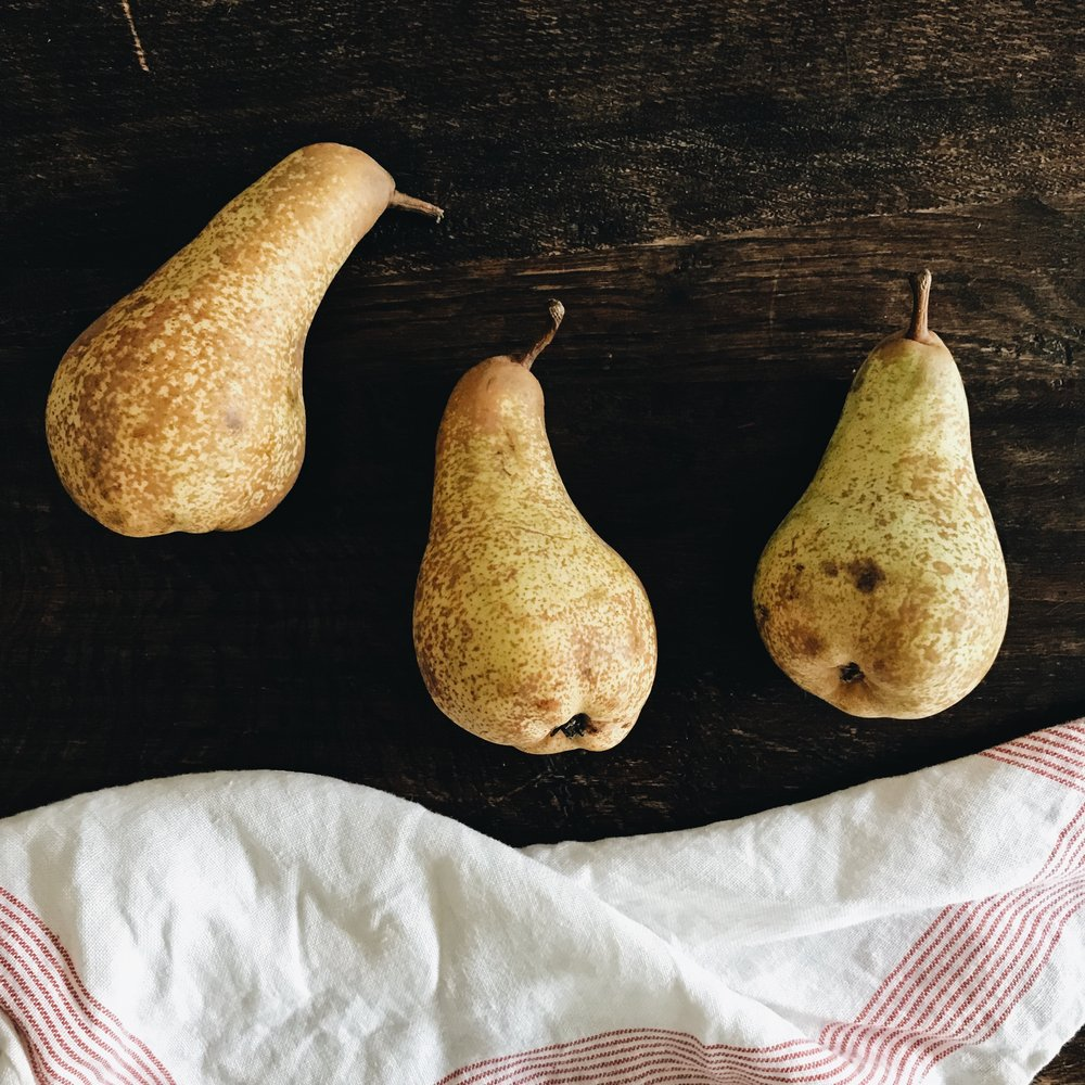 Pears from the farmers market