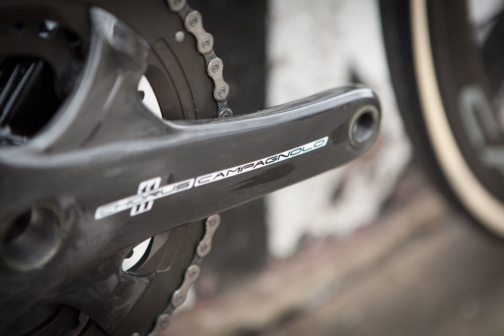 Campagnolo Chorus Carbon chainset.