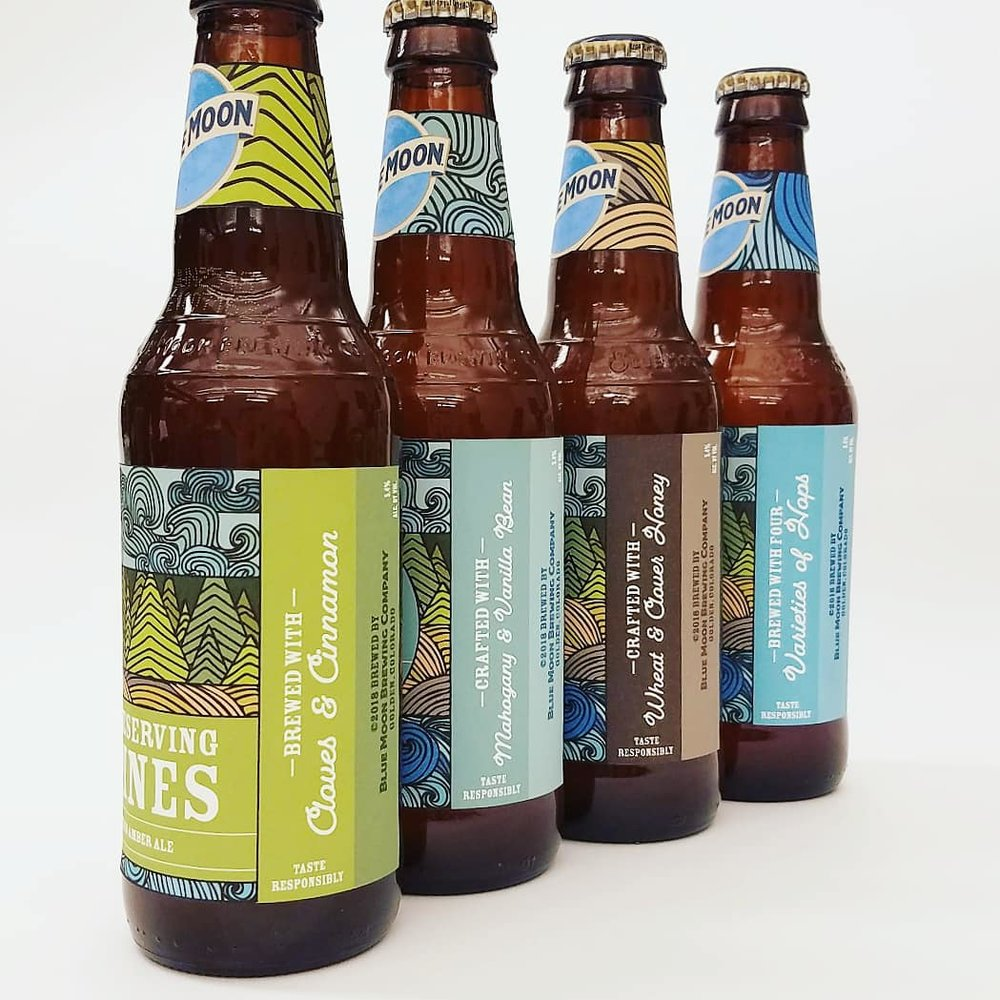 Blue Moon Packaging - Sustainability is a very prevalent topic in today's society. Blue Moon Brewery wanted to be another voice in the fight for the environment by educating its customers what really goes on when products are made with the reassurance that Blue Moon is doing their best to reduce their carbon footprint.