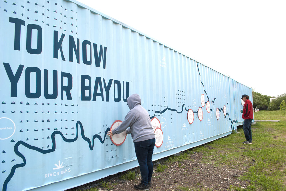 Interact & Engage - Interactive magnets to familiarize the viewer with the bayou.