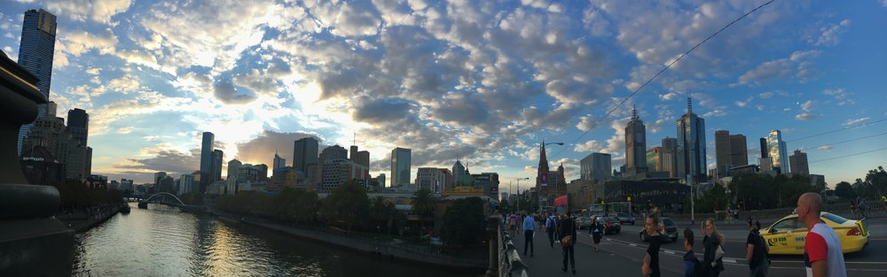 Yarra River at sunset